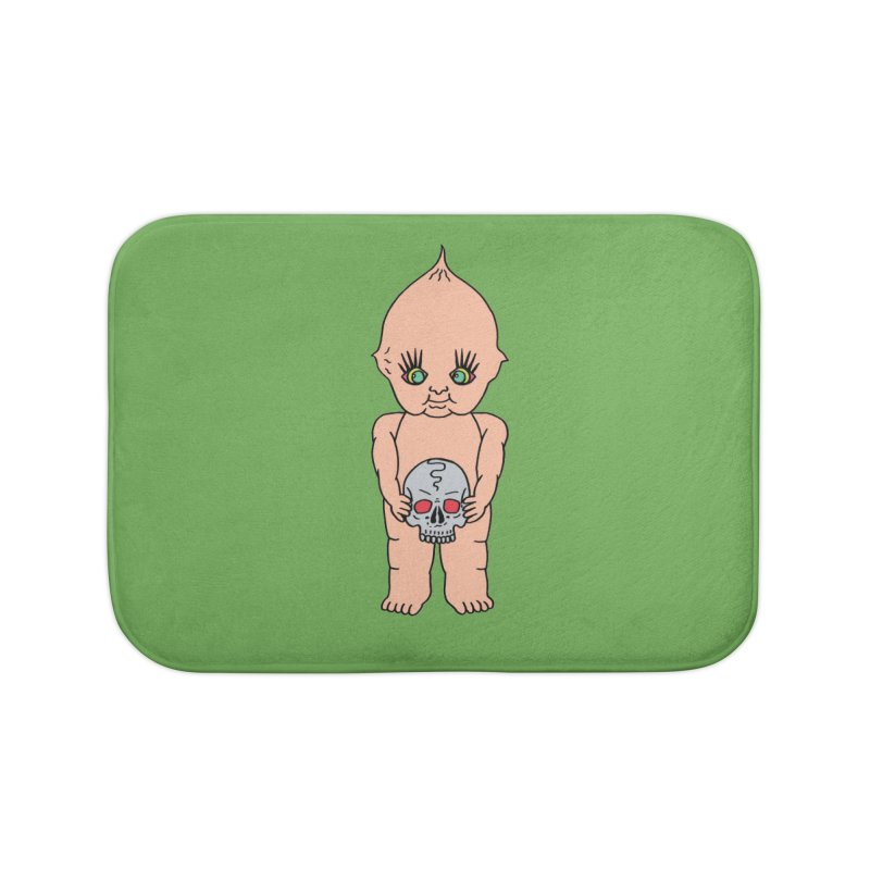 Kewpie With Skull Home Bath Mat by Mike Diana T-Shirts Mugs and More!