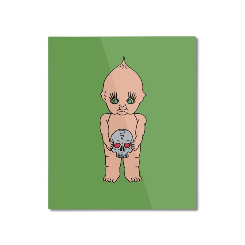 Kewpie With Skull Home Mounted Aluminum Print by Mike Diana T-Shirts Mugs and More!