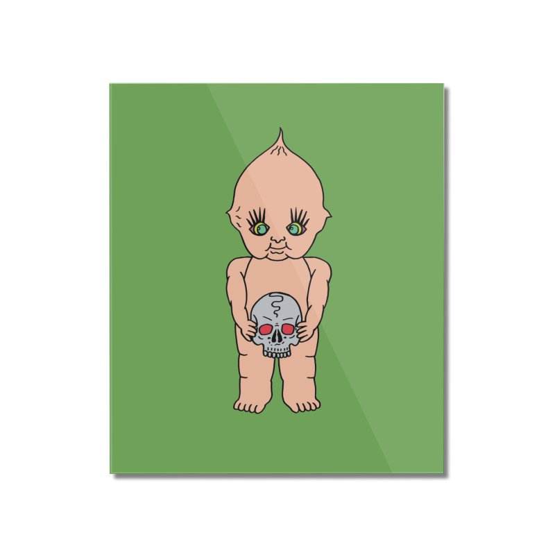 Kewpie With Skull Home Mounted Acrylic Print by Mike Diana T-Shirts Mugs and More!