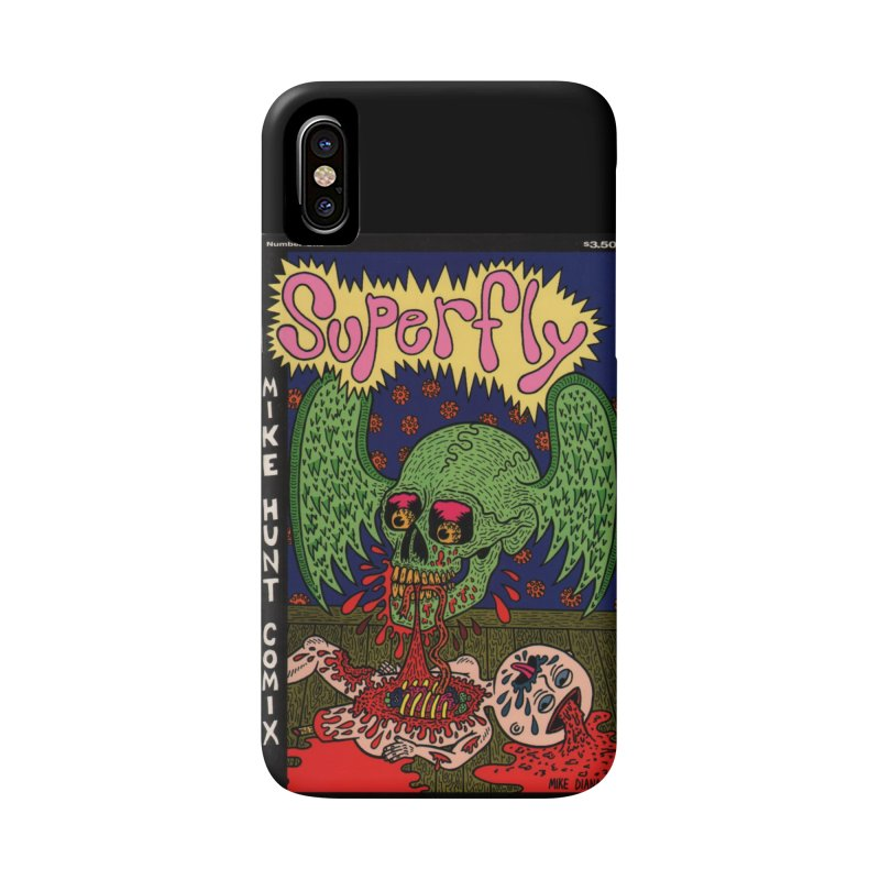 SUPERFLY Accessories Phone Case by Mike Diana T-Shirts! Horrible Ugly Heads Limited E