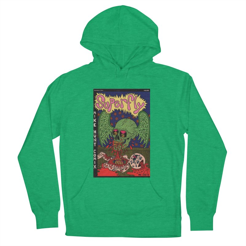 SUPERFLY Women's French Terry Pullover Hoody by Mike Diana T-Shirts! Horrible Ugly Heads Limited E