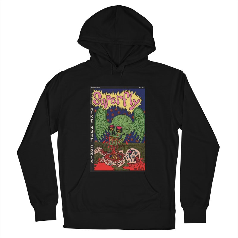 SUPERFLY Men's French Terry Pullover Hoody by Mike Diana T-Shirts! Horrible Ugly Heads Limited E