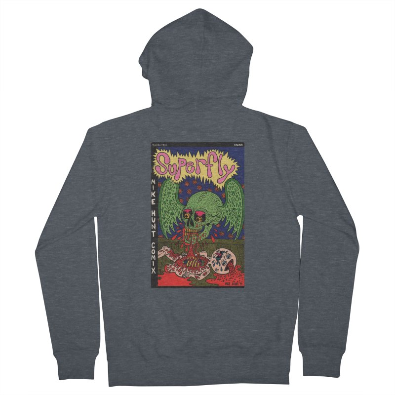 SUPERFLY Women's Zip-Up Hoody by Mike Diana T-Shirts! Horrible Ugly Heads Limited E