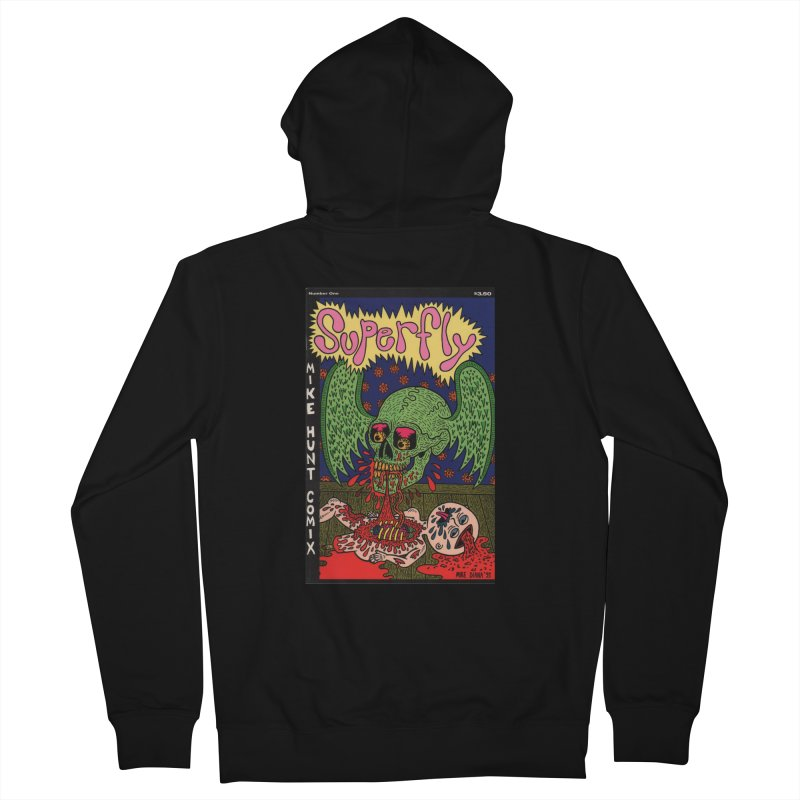 SUPERFLY Women's French Terry Zip-Up Hoody by Mike Diana T-Shirts! Horrible Ugly Heads Limited E