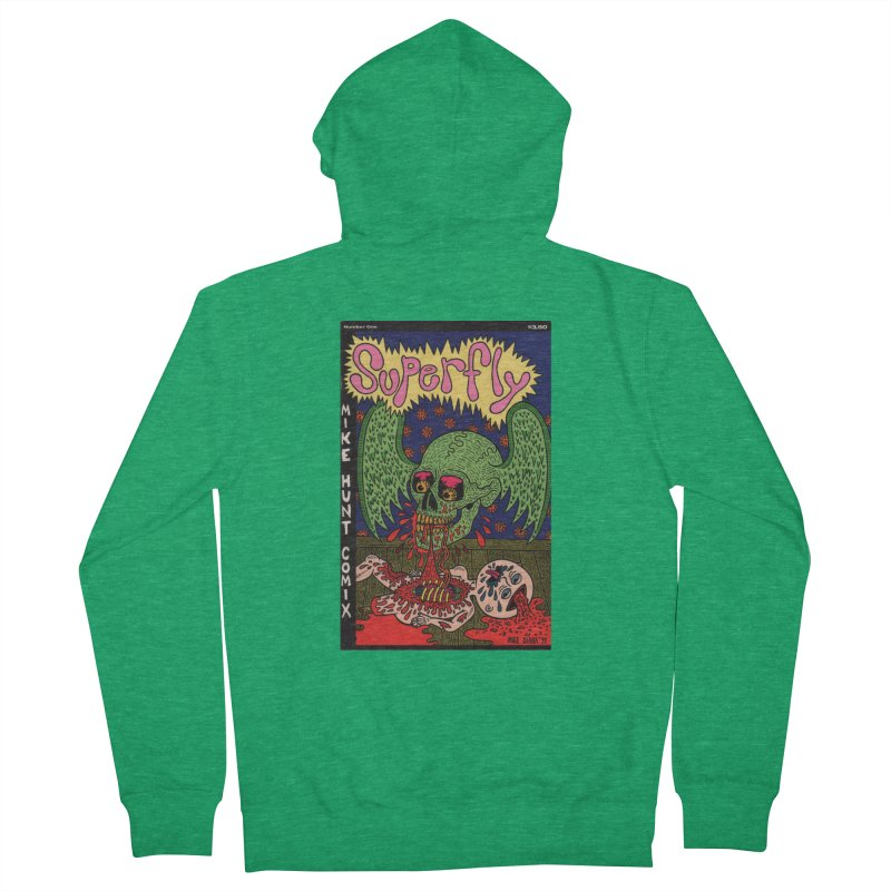 SUPERFLY Men's French Terry Zip-Up Hoody by Mike Diana T-Shirts! Horrible Ugly Heads Limited E