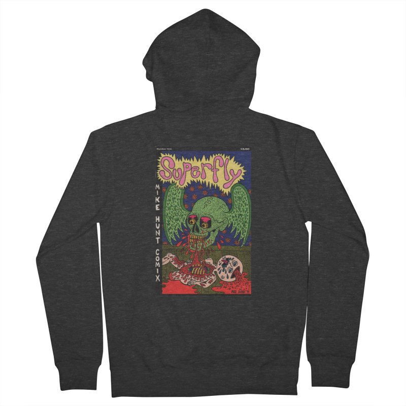 SUPERFLY Men's French Terry Zip-Up Hoody by Mike Diana T-Shirts Mugs and More!