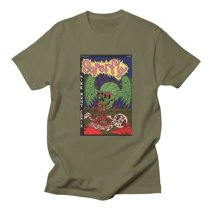 SUPERFLY Women's Regular Unisex T-Shirt by Mike Diana T-Shirts! Horrible Ugly Heads Limited E