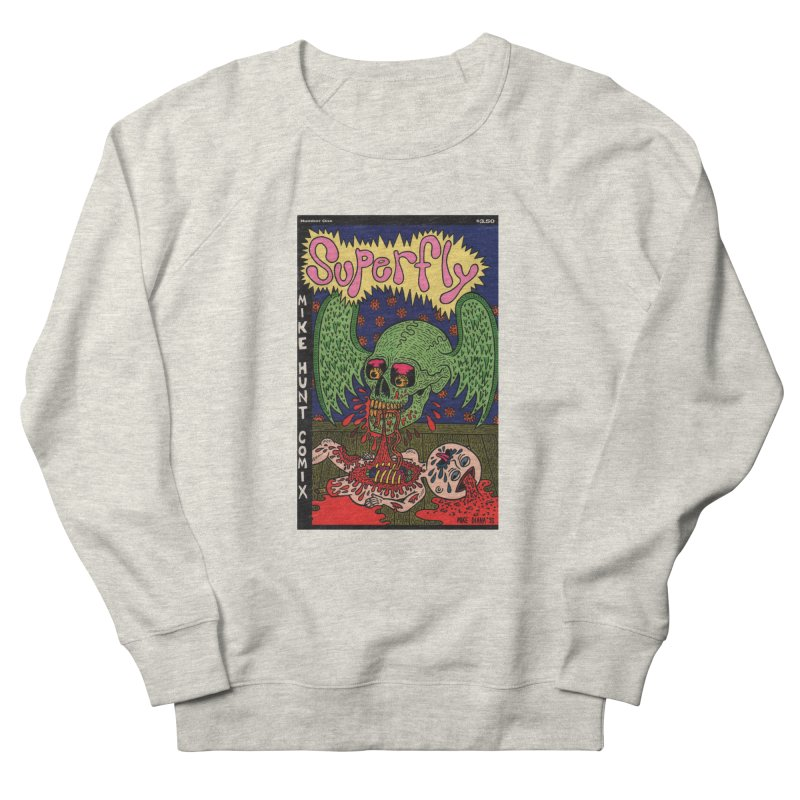 SUPERFLY Men's French Terry Sweatshirt by Mike Diana T-Shirts! Horrible Ugly Heads Limited E