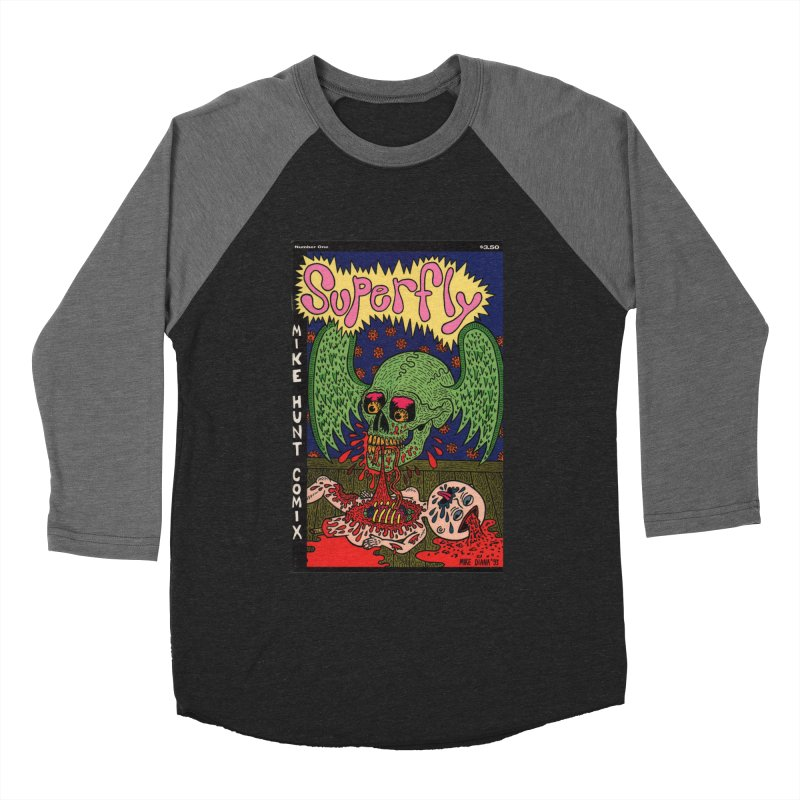 SUPERFLY Women's Baseball Triblend T-Shirt by Mike Diana T-Shirts! Horrible Ugly Heads Limited E