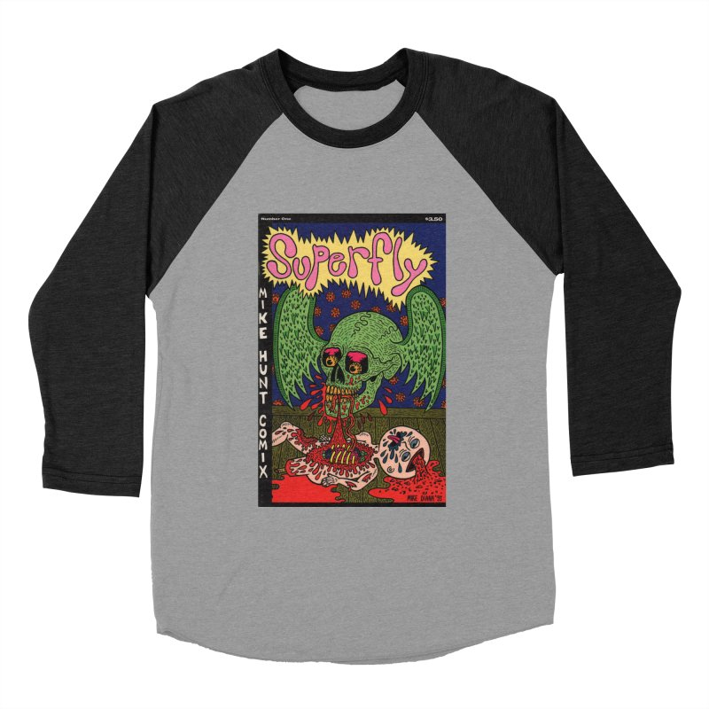 SUPERFLY Women's Baseball Triblend Longsleeve T-Shirt by Mike Diana T-Shirts Mugs and More!