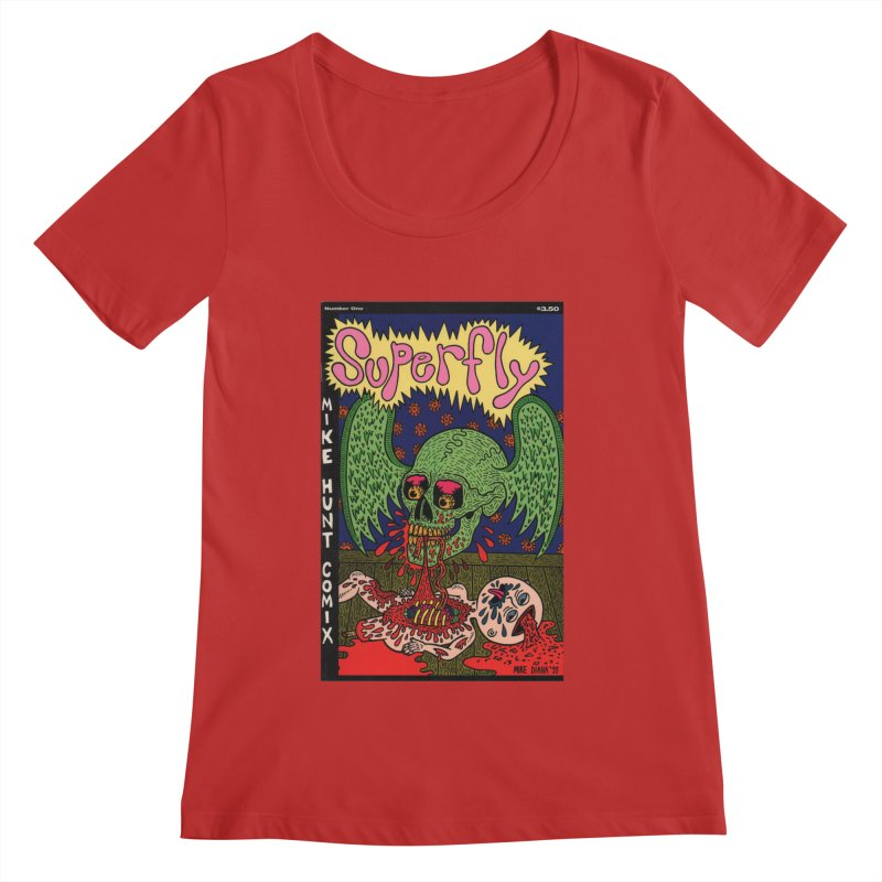 SUPERFLY Women's Regular Scoop Neck by Mike Diana T-Shirts Mugs and More!
