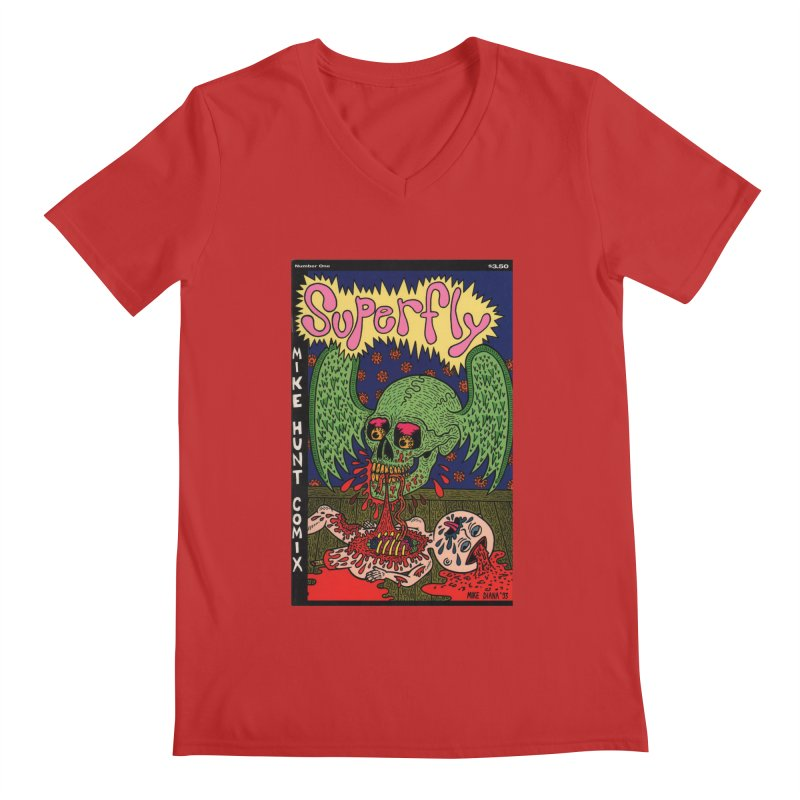 SUPERFLY Men's V-Neck by Mike Diana T-Shirts! Horrible Ugly Heads Limited E