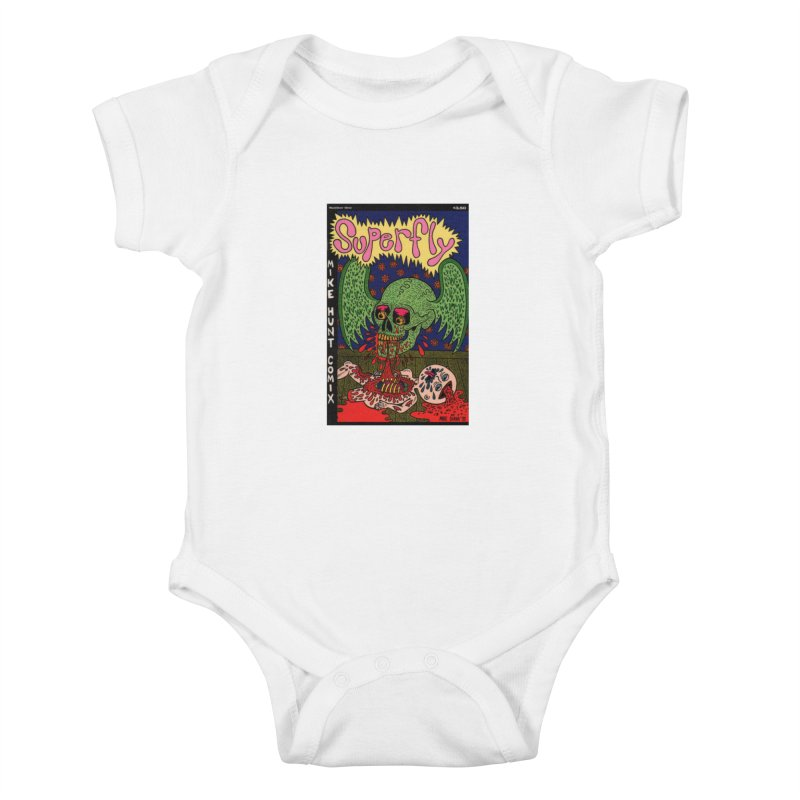 SUPERFLY Kids Baby Bodysuit by Mike Diana T-Shirts! Horrible Ugly Heads Limited E