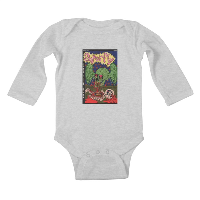 SUPERFLY Kids Baby Longsleeve Bodysuit by Mike Diana T-Shirts! Horrible Ugly Heads Limited E