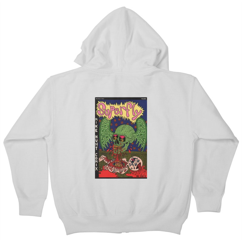SUPERFLY Kids Zip-Up Hoody by Mike Diana T-Shirts! Horrible Ugly Heads Limited E