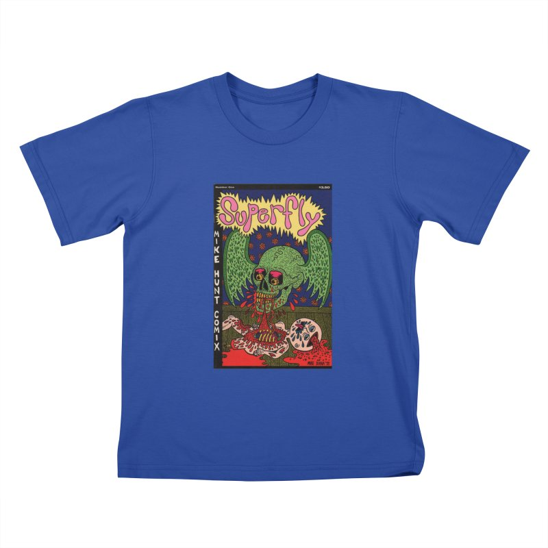 SUPERFLY Kids T-Shirt by Mike Diana T-Shirts! Horrible Ugly Heads Limited E
