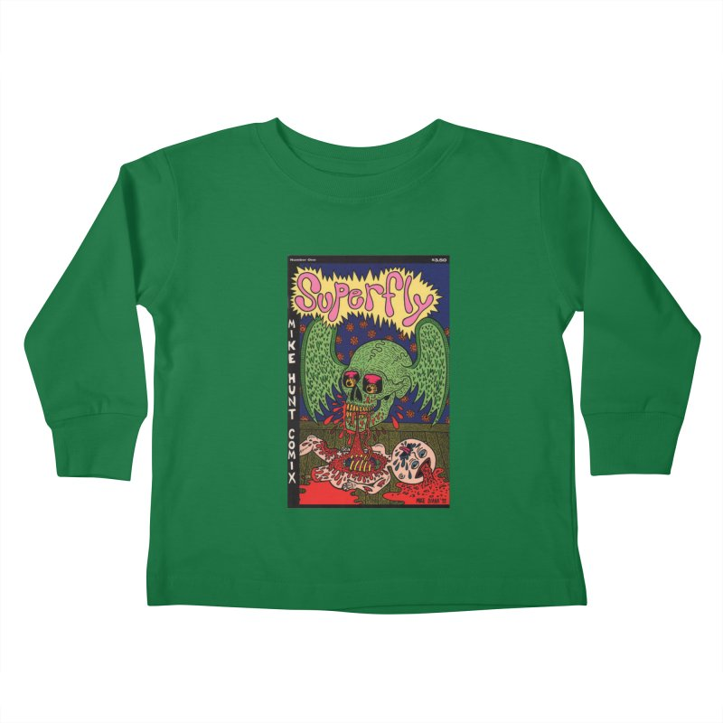SUPERFLY Kids Toddler Longsleeve T-Shirt by Mike Diana T-Shirts! Horrible Ugly Heads Limited E