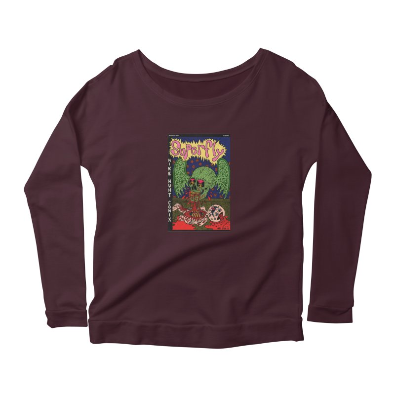 SUPERFLY Women's Scoop Neck Longsleeve T-Shirt by Mike Diana T-Shirts Mugs and More!