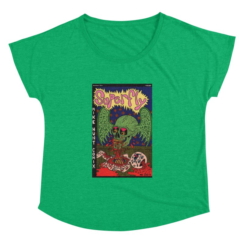 SUPERFLY Women's Dolman by Mike Diana T-Shirts! Horrible Ugly Heads Limited E