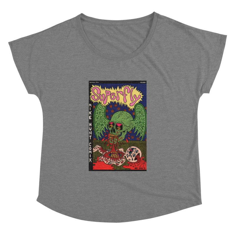 SUPERFLY Women's Dolman Scoop Neck by Mike Diana T-Shirts Mugs and More!