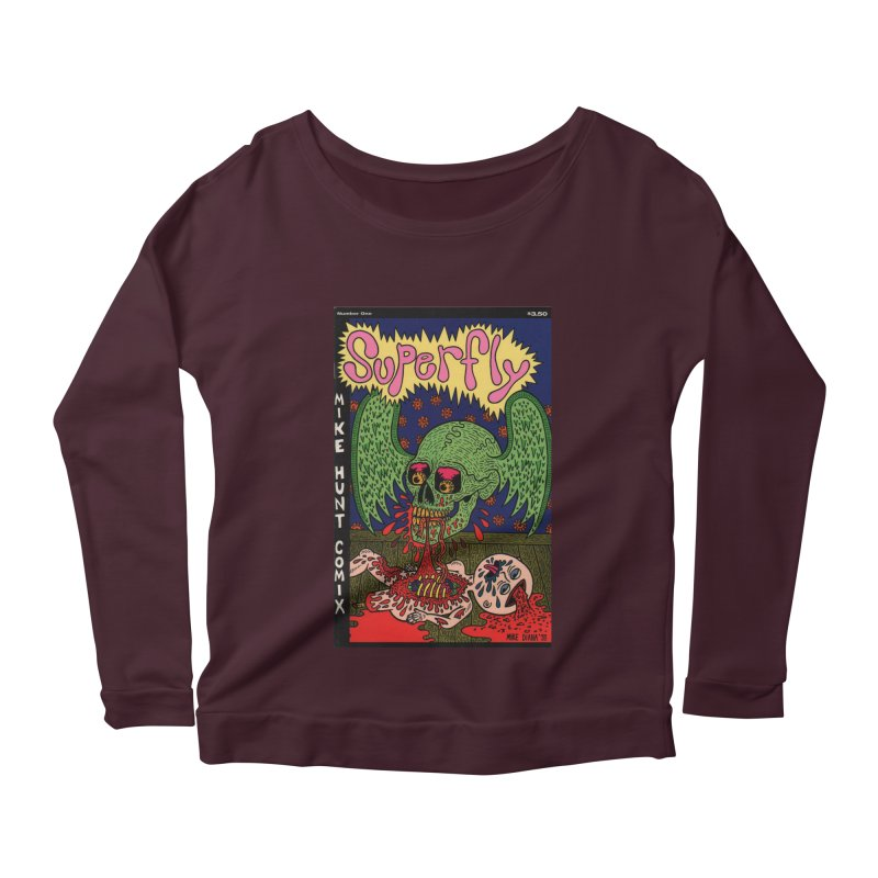 SUPERFLY Women's Longsleeve Scoopneck  by Mike Diana T-Shirts! Horrible Ugly Heads Limited E