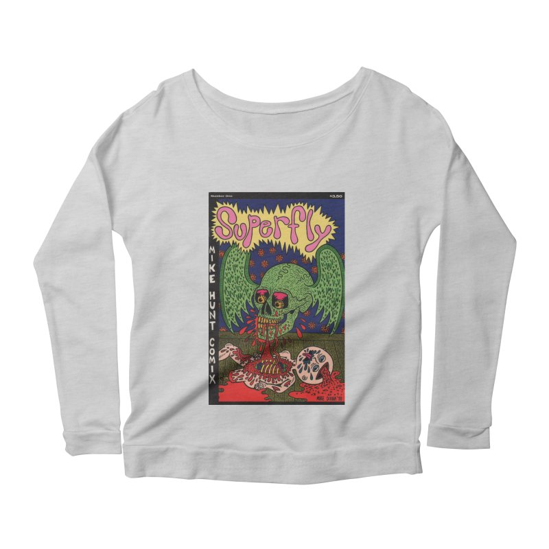 SUPERFLY Women's Scoop Neck Longsleeve T-Shirt by Mike Diana T-Shirts! Horrible Ugly Heads Limited E
