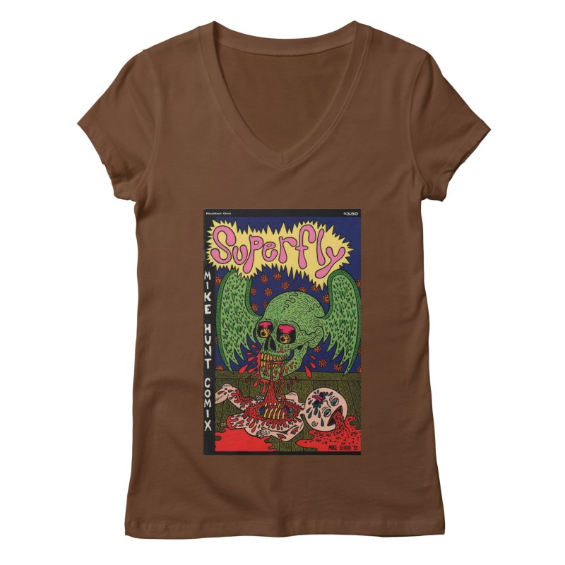 SUPERFLY Women's Regular V-Neck by Mike Diana T-Shirts Mugs and More!