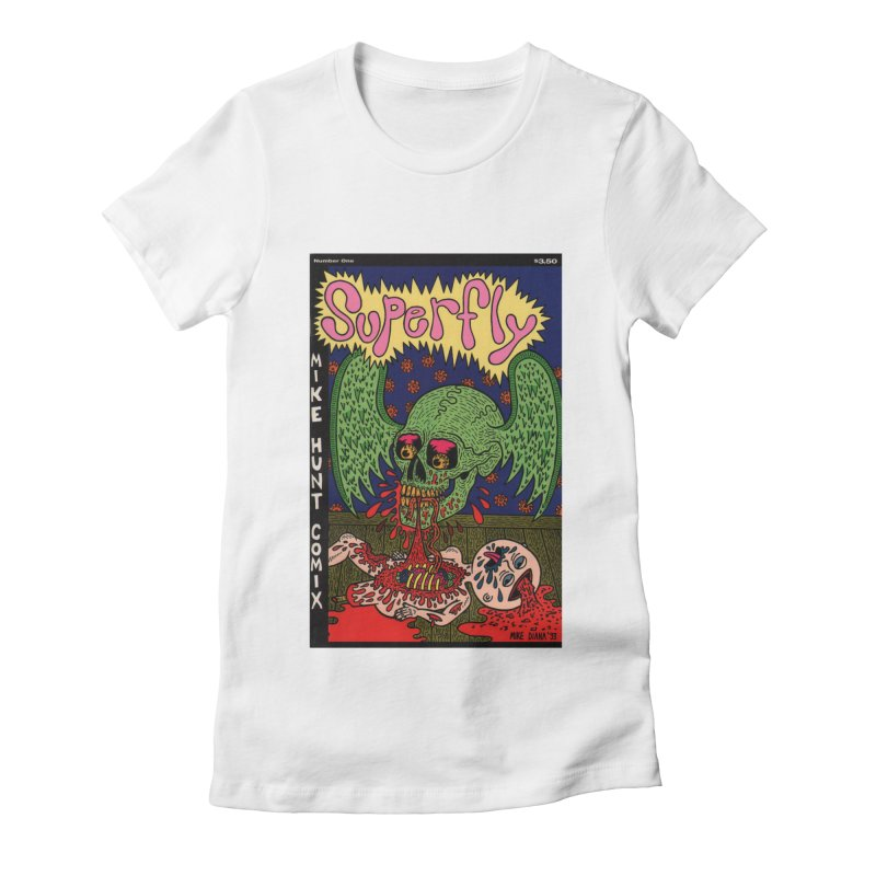 SUPERFLY Women's Fitted T-Shirt by Mike Diana T-Shirts Mugs and More!