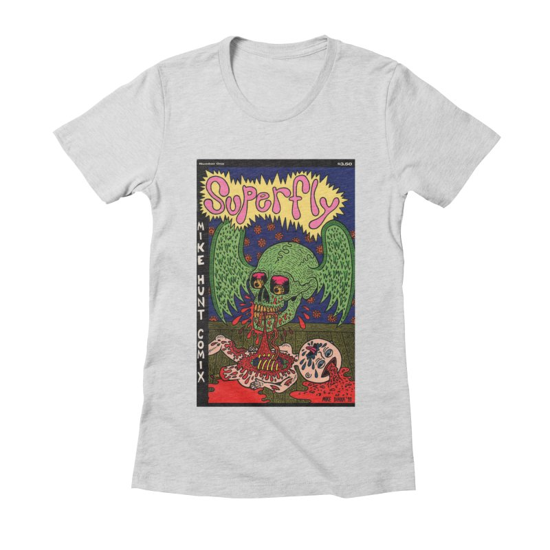 SUPERFLY Women's Fitted T-Shirt by Mike Diana T-Shirts! Horrible Ugly Heads Limited E