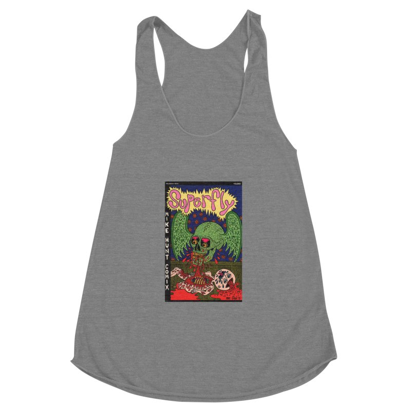 SUPERFLY Women's Racerback Triblend Tank by Mike Diana T-Shirts! Horrible Ugly Heads Limited E