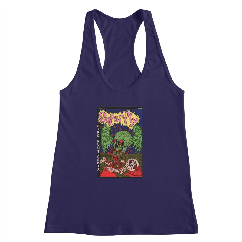 SUPERFLY Women's Racerback Tank by Mike Diana T-Shirts! Horrible Ugly Heads Limited E