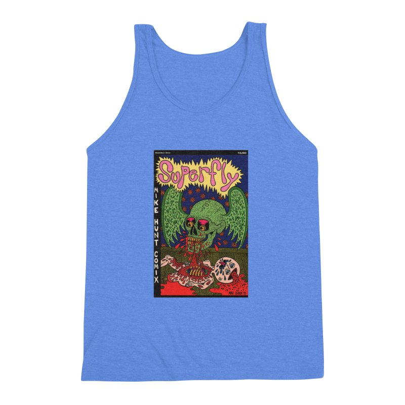 SUPERFLY Men's Triblend Tank by Mike Diana T-Shirts! Horrible Ugly Heads Limited E