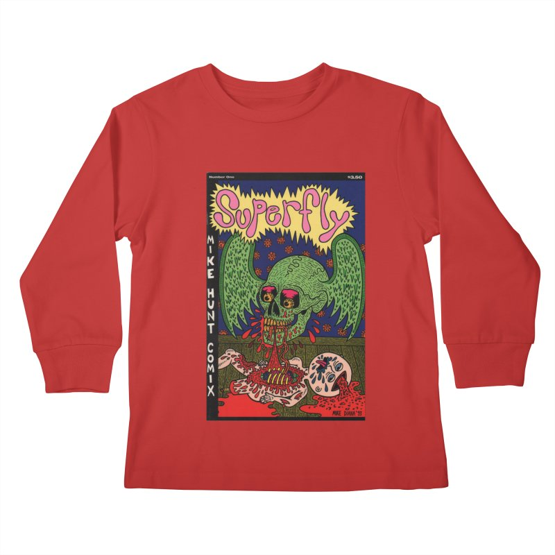 SUPERFLY Kids Longsleeve T-Shirt by Mike Diana T-Shirts! Horrible Ugly Heads Limited E