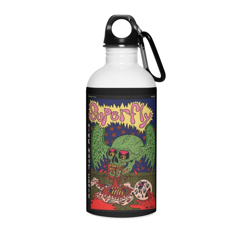 SUPERFLY Accessories Water Bottle by Mike Diana T-Shirts! Horrible Ugly Heads Limited E