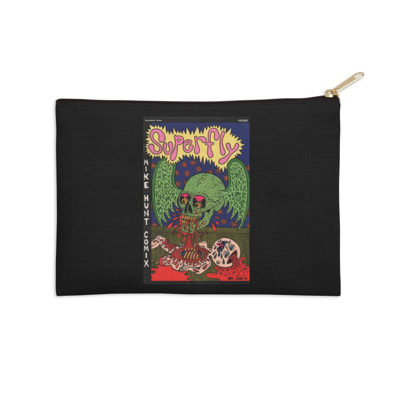 SUPERFLY Accessories Zip Pouch by Mike Diana T-Shirts! Horrible Ugly Heads Limited E