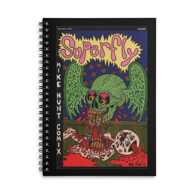 SUPERFLY Accessories Lined Spiral Notebook by Mike Diana T-Shirts Mugs and More!