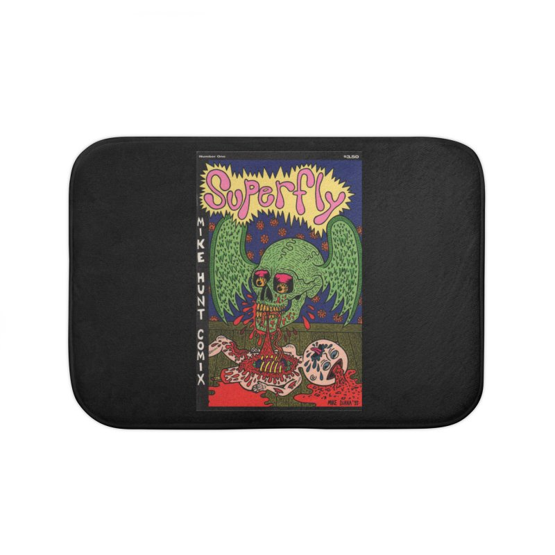 SUPERFLY Home Bath Mat by Mike Diana T-Shirts Mugs and More!