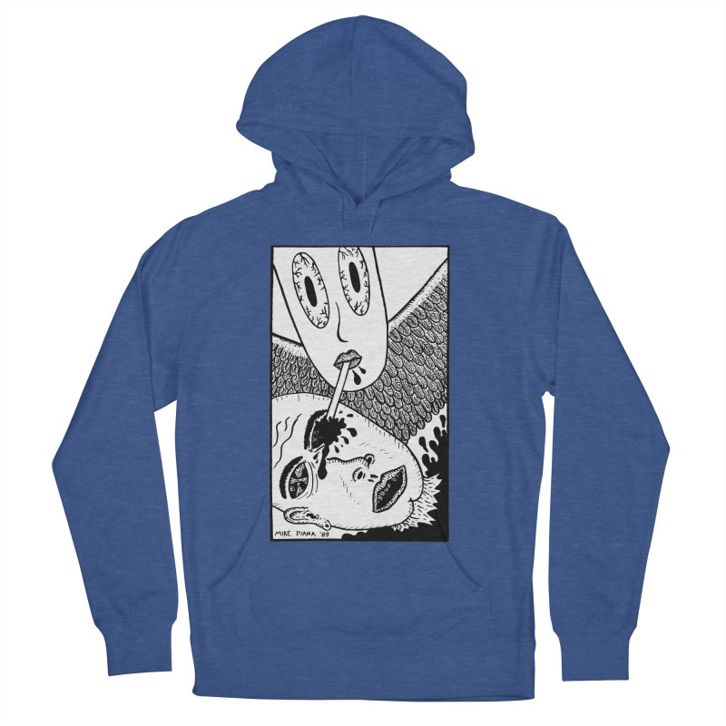 """Mike Diana """"Sip"""" Women's French Terry Pullover Hoody by Mike Diana T-Shirts! Horrible Ugly Heads Limited E"""