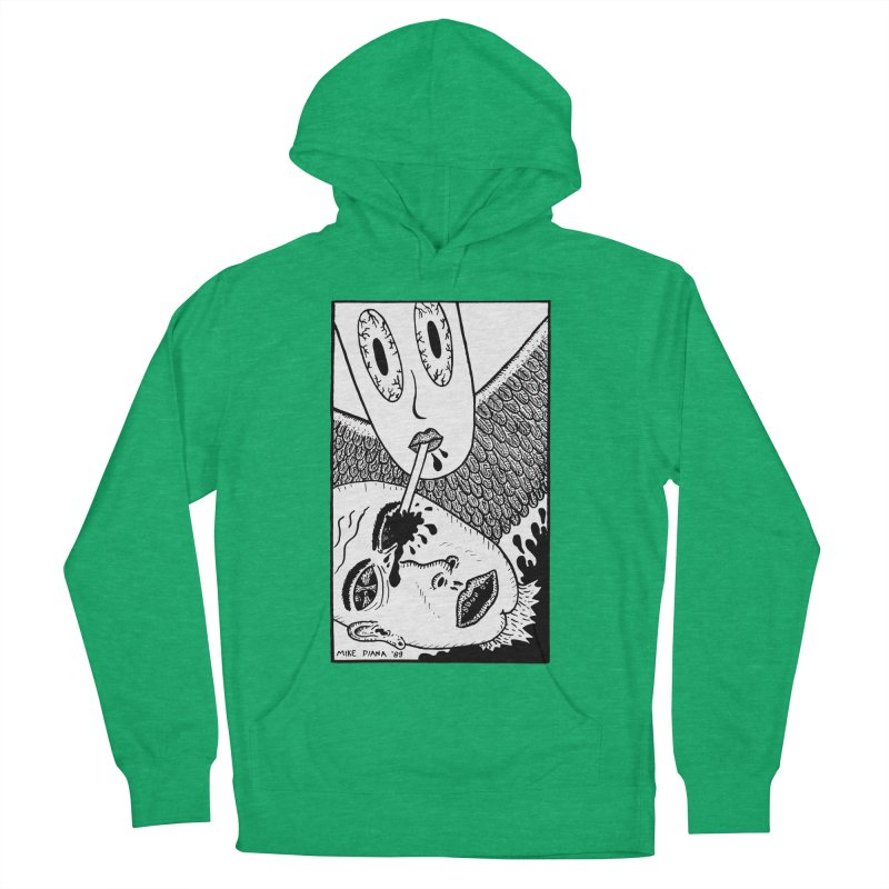 "Mike Diana ""Sip"" Men's French Terry Pullover Hoody by Mike Diana T-Shirts! Horrible Ugly Heads Limited E"