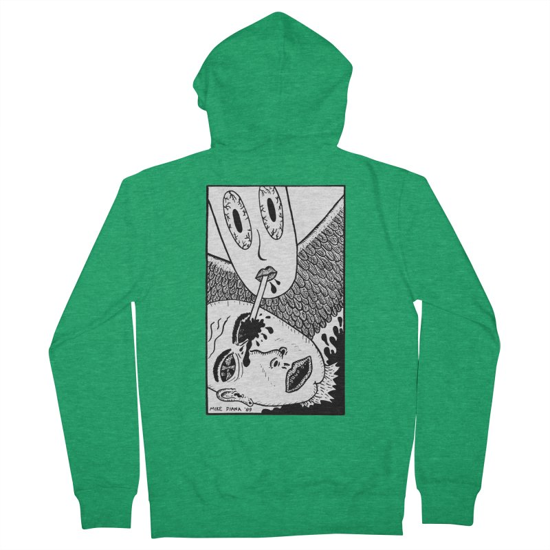 "Mike Diana ""Sip"" Women's French Terry Zip-Up Hoody by Mike Diana T-Shirts Mugs and More!"