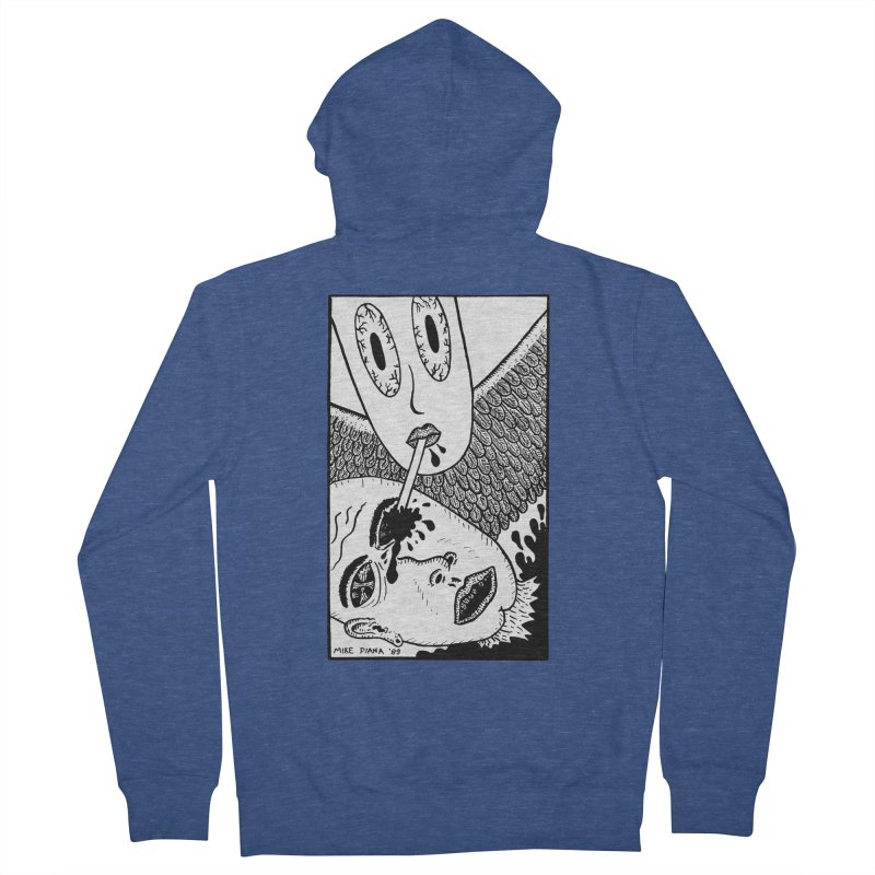 "Mike Diana ""Sip"" Women's French Terry Zip-Up Hoody by Mike Diana T-Shirts! Horrible Ugly Heads Limited E"