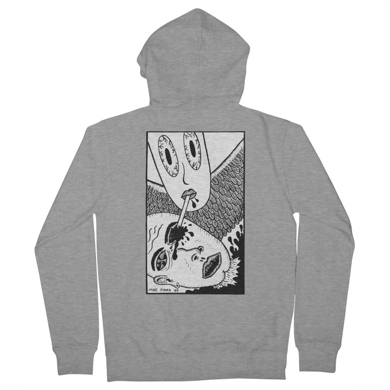 """Mike Diana """"Sip"""" Women's Zip-Up Hoody by Mike Diana T-Shirts! Horrible Ugly Heads Limited E"""
