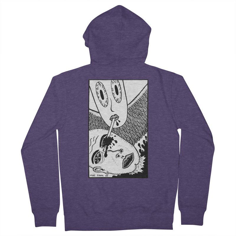 """Mike Diana """"Sip"""" Men's French Terry Zip-Up Hoody by Mike Diana T-Shirts Mugs and More!"""