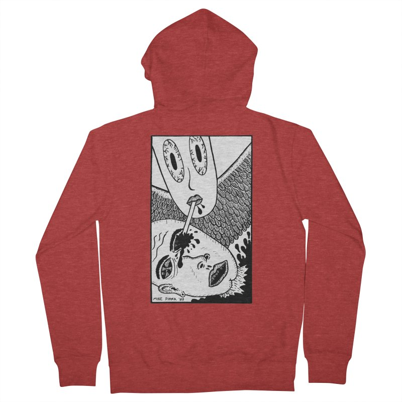 "Mike Diana ""Sip"" Men's Zip-Up Hoody by Mike Diana T-Shirts! Horrible Ugly Heads Limited E"
