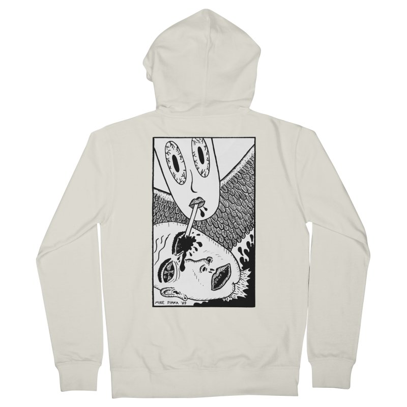 "Mike Diana ""Sip"" Men's French Terry Zip-Up Hoody by Mike Diana T-Shirts Mugs and More!"