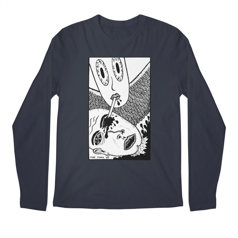 """Mike Diana """"Sip"""" Men's Longsleeve T-Shirt by Mike Diana T-Shirts! Horrible Ugly Heads Limited E"""