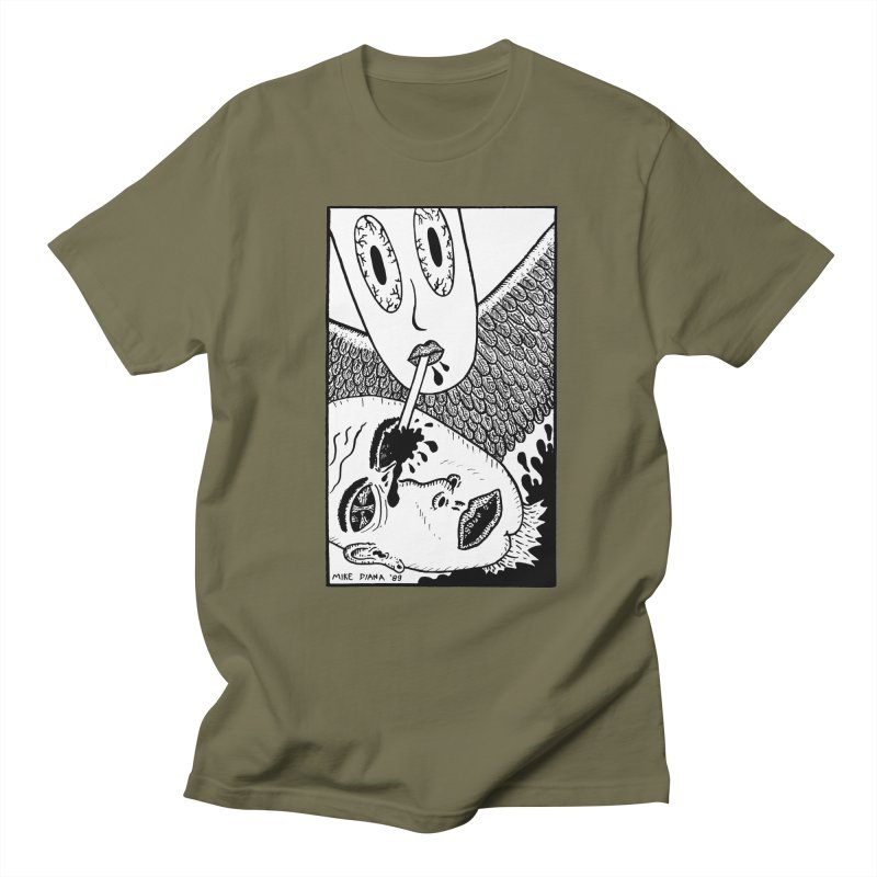 "Mike Diana ""Sip"" Men's  by Mike Diana T-Shirts! Horrible Ugly Heads Limited E"