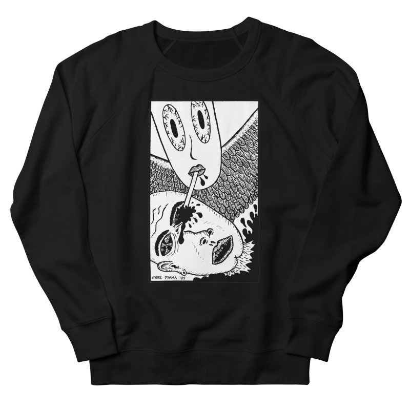 """Mike Diana """"Sip"""" Women's French Terry Sweatshirt by Mike Diana T-Shirts! Horrible Ugly Heads Limited E"""