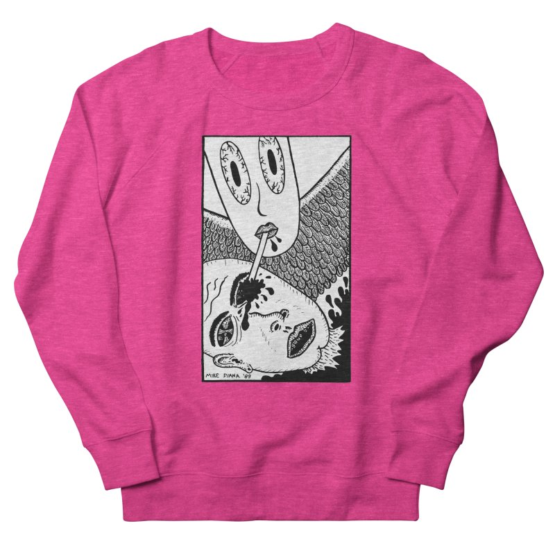"""Mike Diana """"Sip"""" Men's French Terry Sweatshirt by Mike Diana T-Shirts! Horrible Ugly Heads Limited E"""