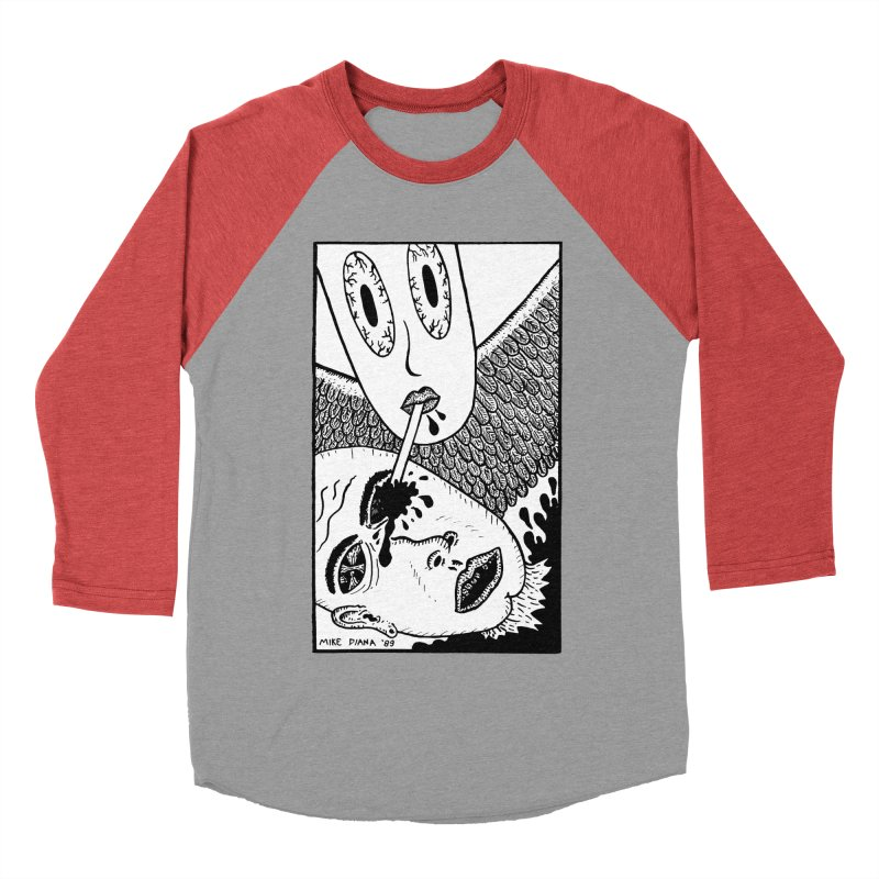 """Mike Diana """"Sip"""" Women's Baseball Triblend Longsleeve T-Shirt by Mike Diana T-Shirts Mugs and More!"""